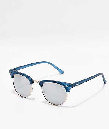 Clubmaster Blue Smoke Mirror Sunglasses