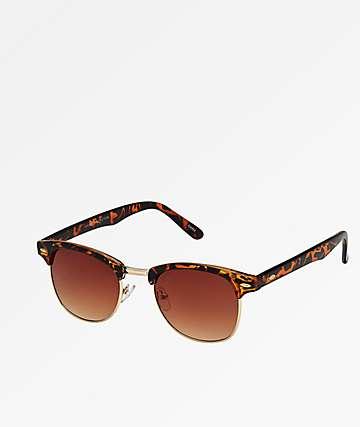 Clubmaster Brown Tortoise Sunglasses