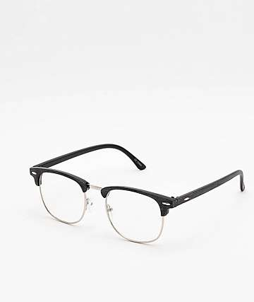 Clubmaster Clear & Black Glasses