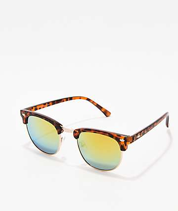 Clubmaster Tortoise & Gold Sunglasses
