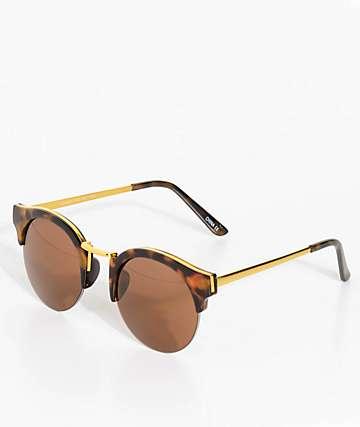 Clubmaster gafas de sol de carey marrón