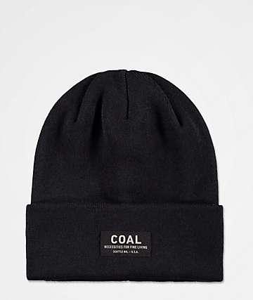 Coal Carson Black Beanie