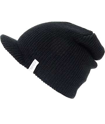 Coal The Basic Black Visor Beanie