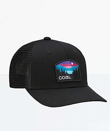 Coal The Hauler Low Black Trucker Hat