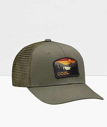 Coal The Hauler Low Olive Snapback Hat