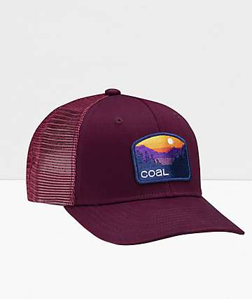 Coal The Hauler Low Wine Snapback Hat