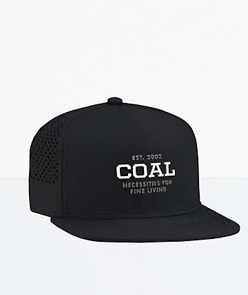 Coal The Meridian Black Snapback Hat
