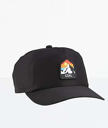 Coal The Peak Black Snapback Hat