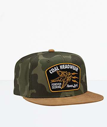 Coal The Seeker Camo Snapback Hat