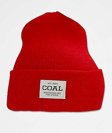 Coal The Uniform Red Beanie