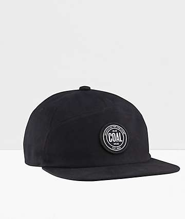 Coal The Will Black Strapback Hat