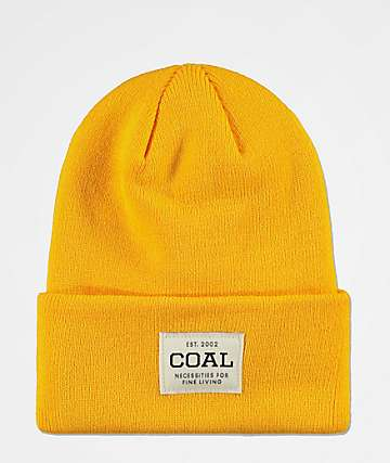 Coal Uniform Golden Rod Yellow Beanie