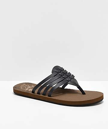 Cobian Aloha Multi-Strap Black Sandals