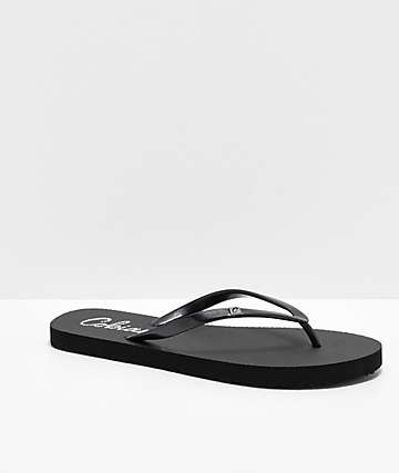 Cobian Cozumel All Black Thong Sandals