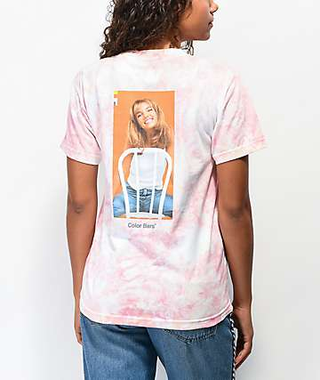Color Bars x Britney Spears Chair Peach Tie Dye T-Shirt
