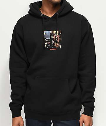 Color Bars x David Bowie Ziggy Black Hoodie
