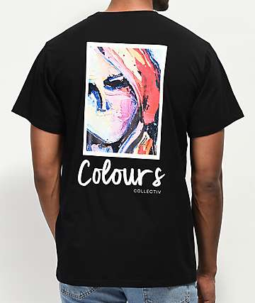 Colours Collectiv Aja Profile Black T-Shirt