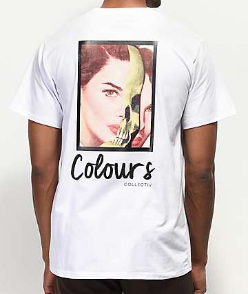 Colours Collectiv Lady Skull White T-Shirt