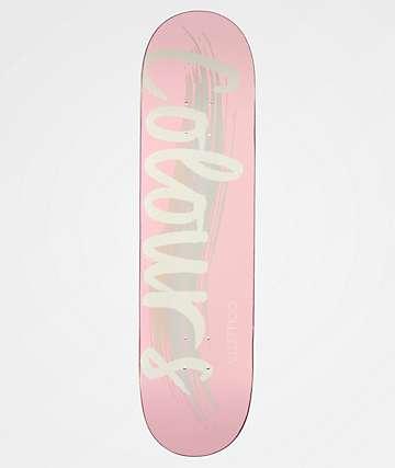 """Colours Collectiv Logo 8.0"""" Salmon Skateboard Deck"""