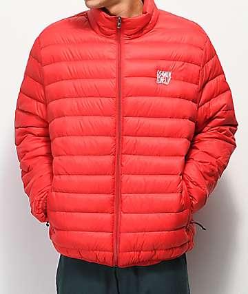 Common Apparel Puff Pass chaqueta roja aislada
