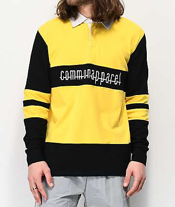 Common Killer Bee Yellow Long Sleeve Polo Shirt