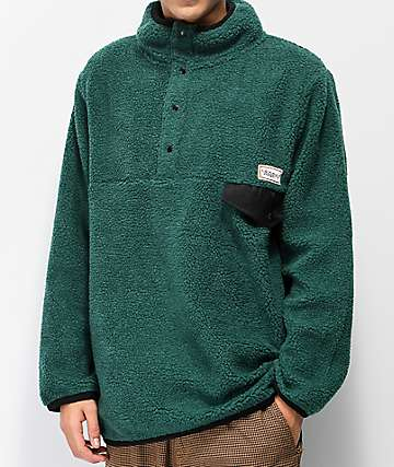 Common Thrift Green Fleece Jacket