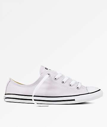 Converse CTAS Dainty Barely Grape & White Shoes