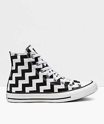 Converse CTAS Glam Dunk High Top Black & White Shoes