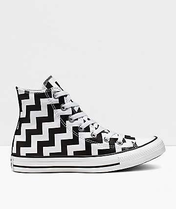 Converse CTAS Glam Dunk High Top Black & White Shoes