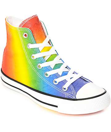 Converse CTAS Hi Pride Pack White & Multi-Colored Shoes
