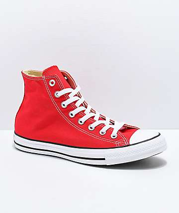 shoes converse and red and white