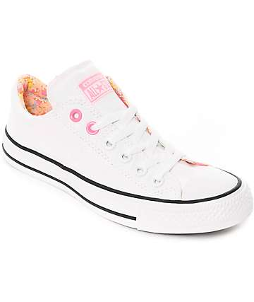 Converse CTAS Madison zapatos en blanco y rosa