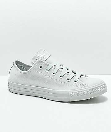 Converse CTAS Ox Mono Grey Suede Shoes
