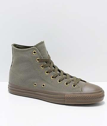 Converse CTAS Pro Hi Kevin Rodrigues zapatos de skate en verde y marrón