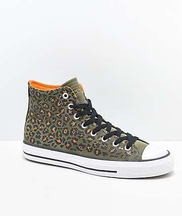 Converse CTAS Pro Hi Leopard Print Skate Shoes