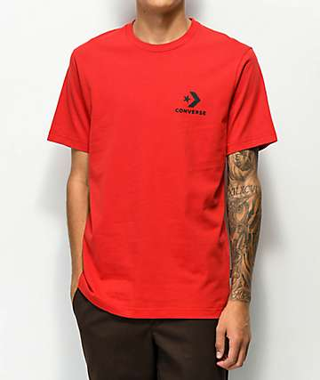 ce28f3c6738753 Converse Chevron Star Red T-Shirt