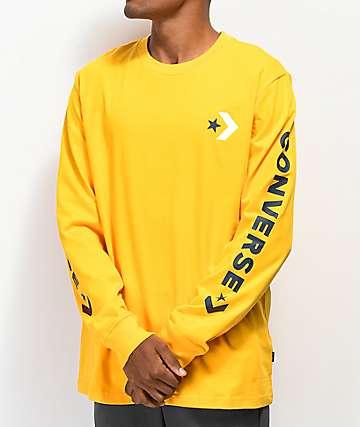 Converse Chevron Star camiseta de manga larga dorada