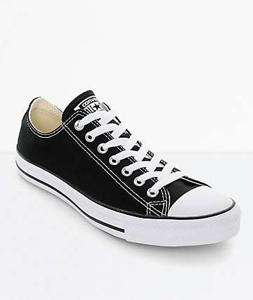 287e09450656 Converse Chuck Taylor All Star Black   White Shoes