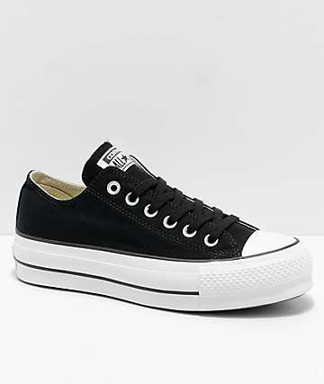 converse all star cts ox lift white/black/white