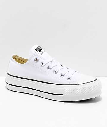 Converse Chuck Taylor All Star Lift White & Garnet Shoes