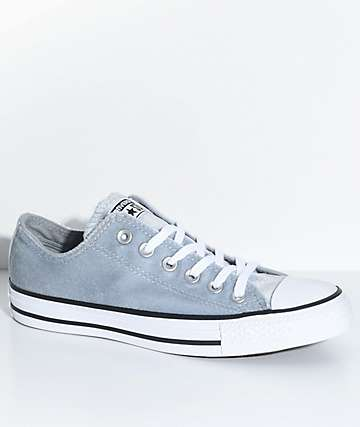 Converse Chuck Taylor All Star Ox Wolf Grey Velvet Shoes