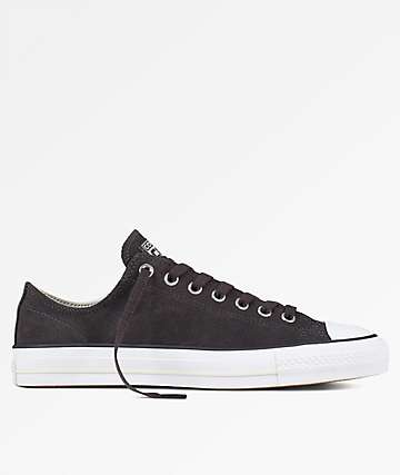 Converse Chuck Taylor All Star Pro Black, Egret & White Skate Shoes