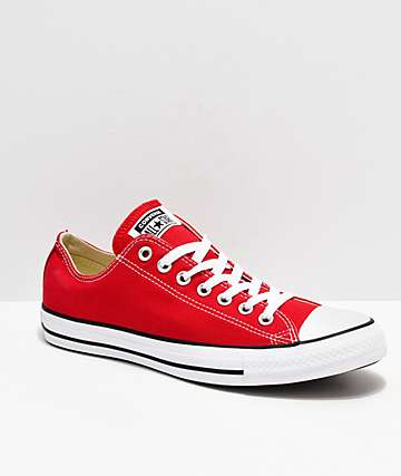 Converse Chuck Taylor All Star zapatos rojos y blancos
