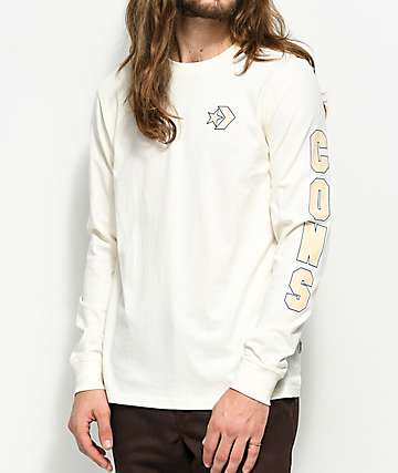Converse Cons Wordmark Egret White Long Sleeve T-Shirt