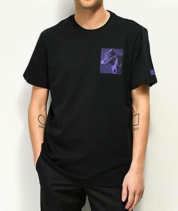 Converse Cons camiseta negra y morada
