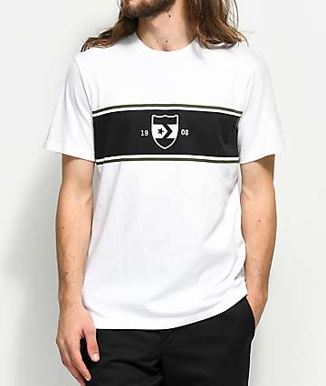 Converse Crest Stripe camiseta blanca