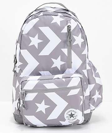 Converse Go mochila gris y blanca