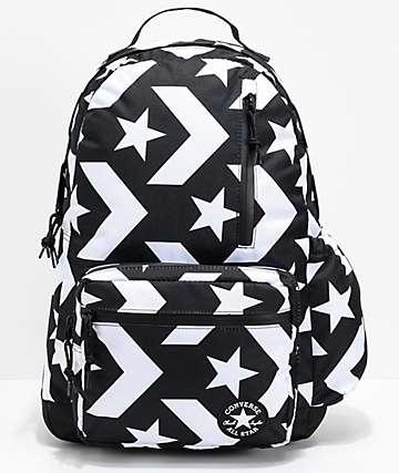Converse Go mochila negra y blanca