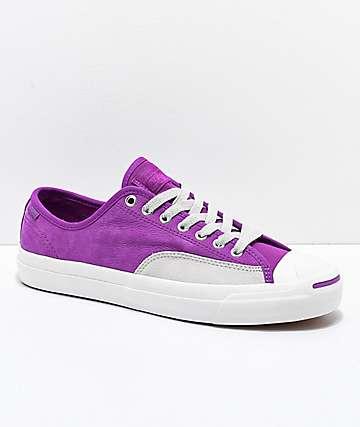 Converse Jack Purcell Pro Icon zapatos de skate en violeta y gris