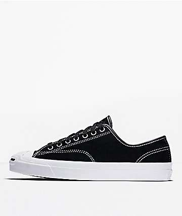 Converse Jack Purcell Pro Ox Black & White Skate Shoes